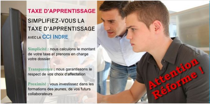 Taxe d'apprentissage CCI Indre