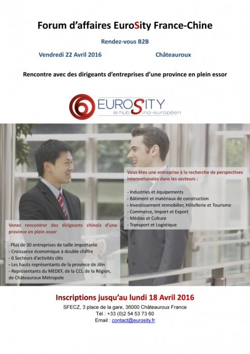 Forum d'Affaire EuroSity France Chine