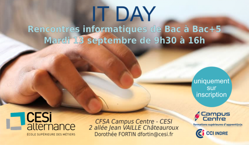 IT DAY Châteauroux - 13 septembre 2016 à Campus Centre CCI Indre